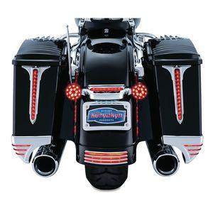 Kuryakyn LED Rear Saddlebag Wedge Accents For Harley Touring 1993-2013