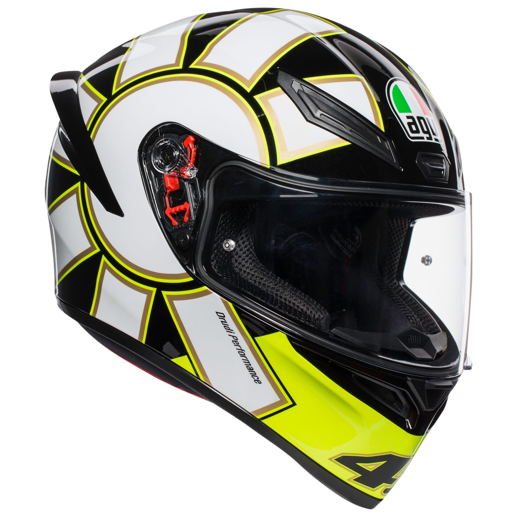 and Medium-Small Helmets AGV Iridium Silver GT2-1 Shield with Pin Lock Pins Scratch-Resistant and UV-B Protected for K-3 SV and K-5 X-Small Small