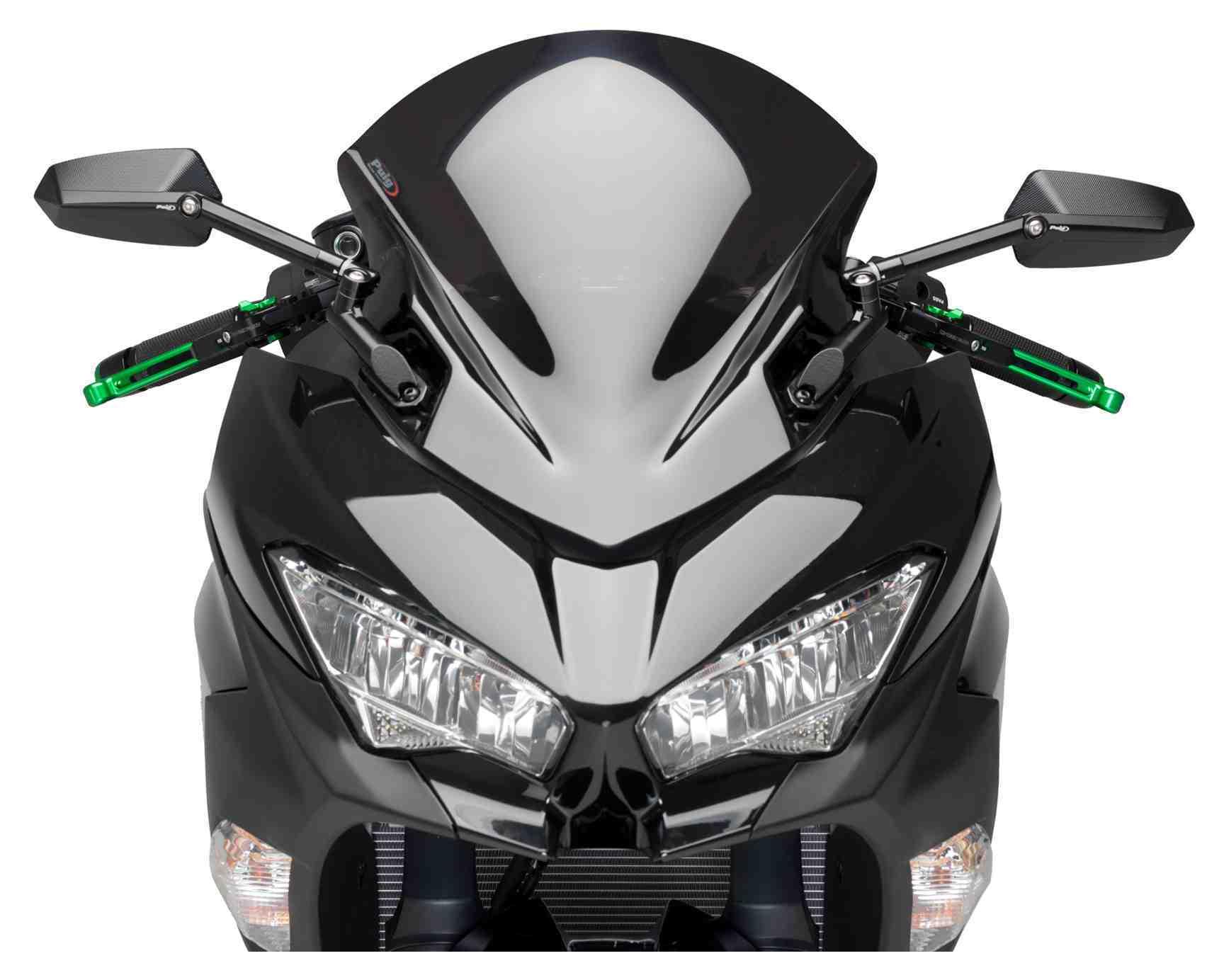 PUIG Double Bubble Screen Black Racing WINDSCREEN 9976N Kawasaki Ninja 400 2018