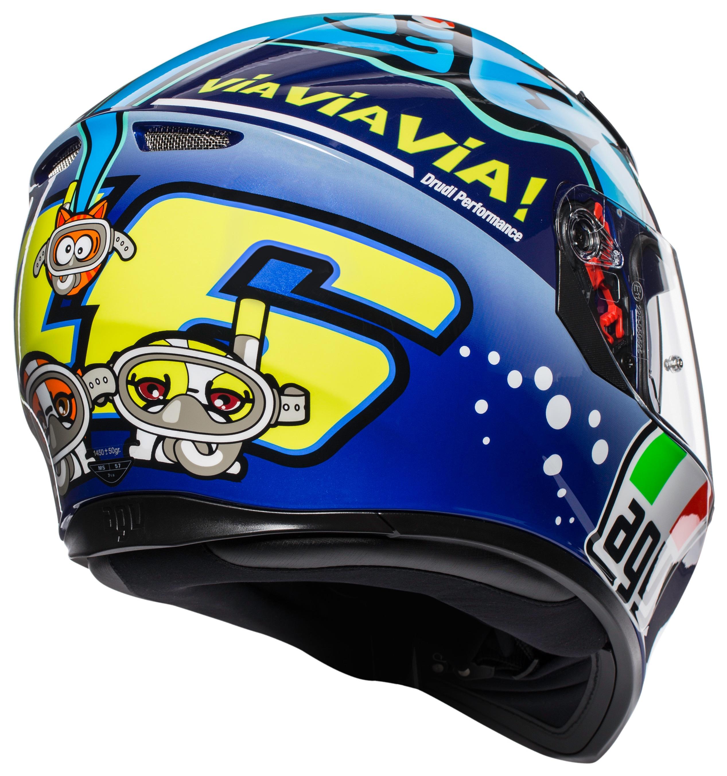 1a2be546 AGV K3 SV Rossi Misano 2015 Helmet - RevZilla