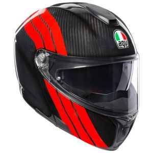AGV Sportmodular Carbon Stripes Helmet (XS and SM)