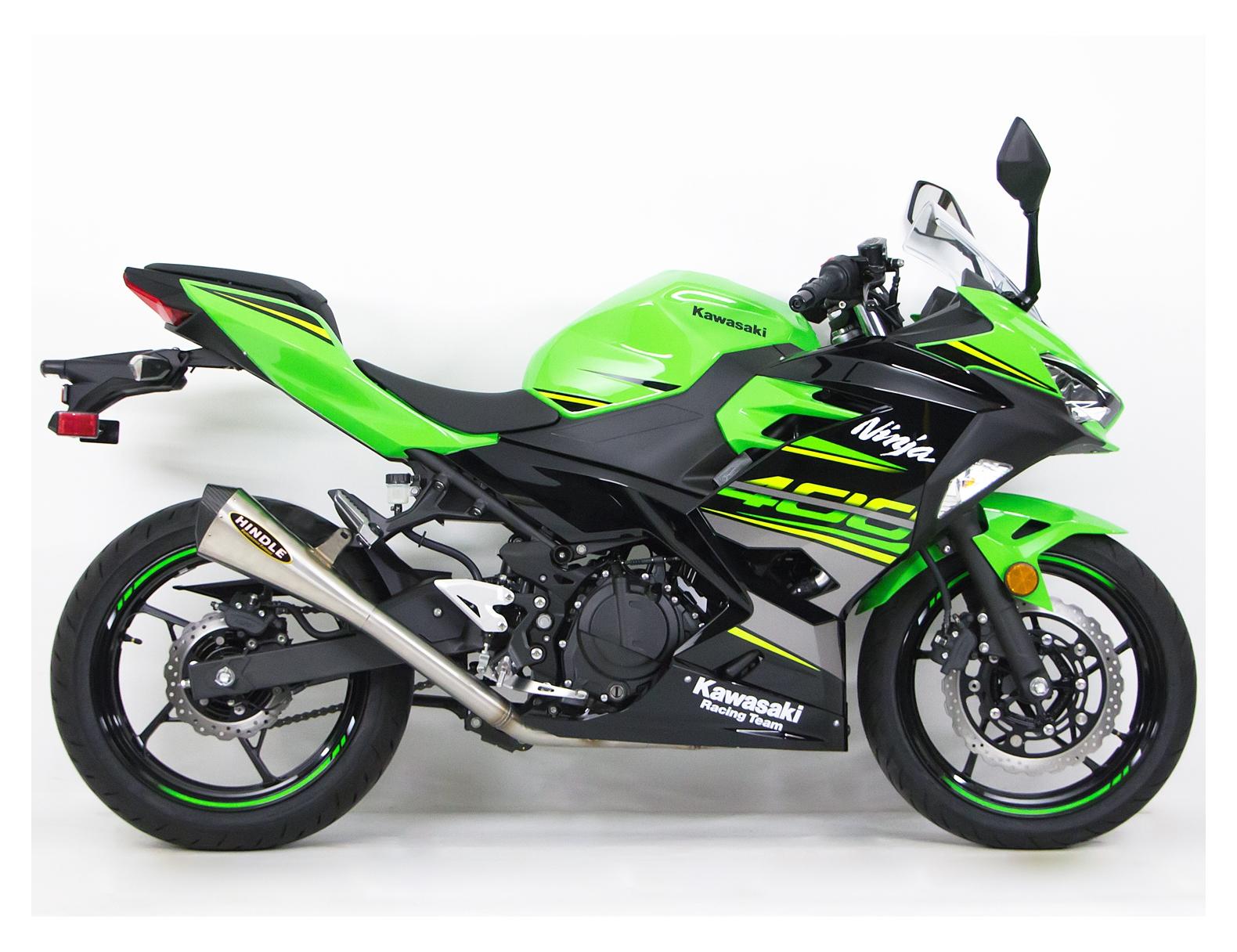 Full Face Cruiser Helmets >> Hindle EVO Megaphone Exhaust System Kawasaki Ninja 400 / Z400 2018-2019 - RevZilla