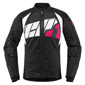 Choose Size Blk//Pink ICON Women/'s WIREFORM Textile 3-Season Motorcycle Jacket
