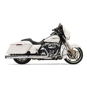 """Bassani Crossover Eliminator 2-Into-1 4"""" Straight Can Slip-On Muffler For Harley Touring 2017-2019 Chrome [Blemished - Very Good]"""