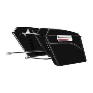 HogWorkz Saddlebag Conversion Brackets With Stretched Saddlebags For Harley Softail 1986-2017