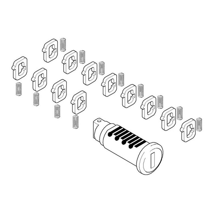 BMW Vario Case Lock Cylinder Kit F750GS / F850GS / R1250GS / Adventure