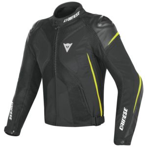 Dainese Super Rider D-Dry Jacket Black/Black/Fluo Yellow / 50 [Blemished - Very Good]