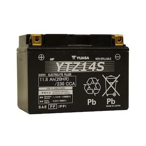 Yuasa YTZ14S Factory Activated AGM High Performance Battery [Previously Installed]