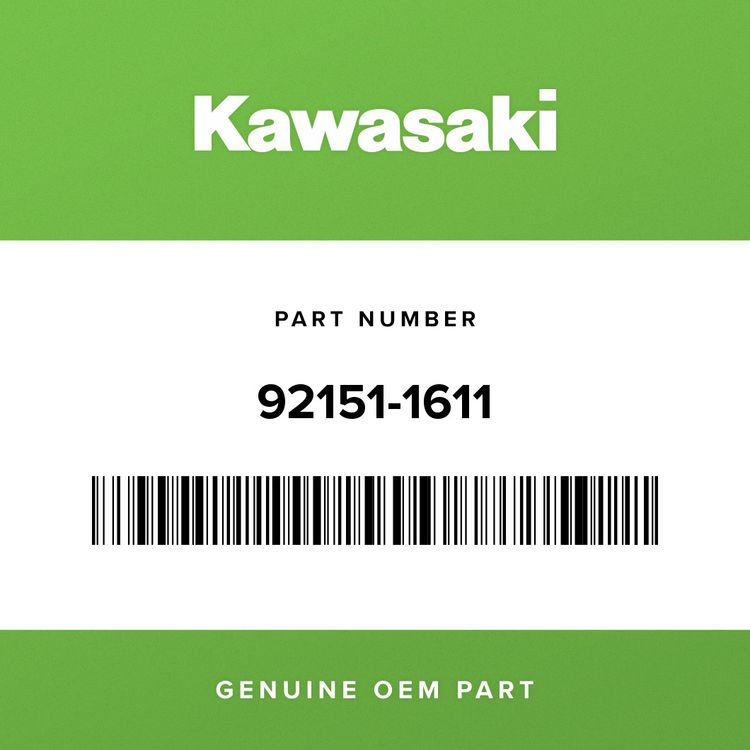 Kawasaki BOLT, SOCKET, 6X25 92151-1611