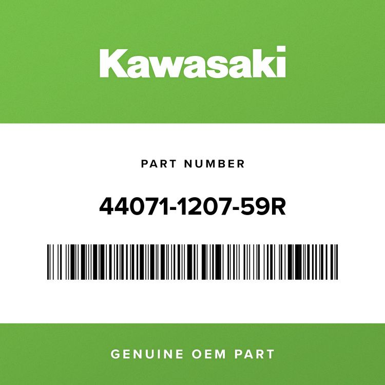 Kawasaki DAMPER-ASSY, LH, BLACK 44071-1207-59R