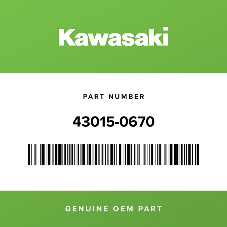 Kawasaki CYLINDER-ASSY-MASTER, FR 43015-0670
