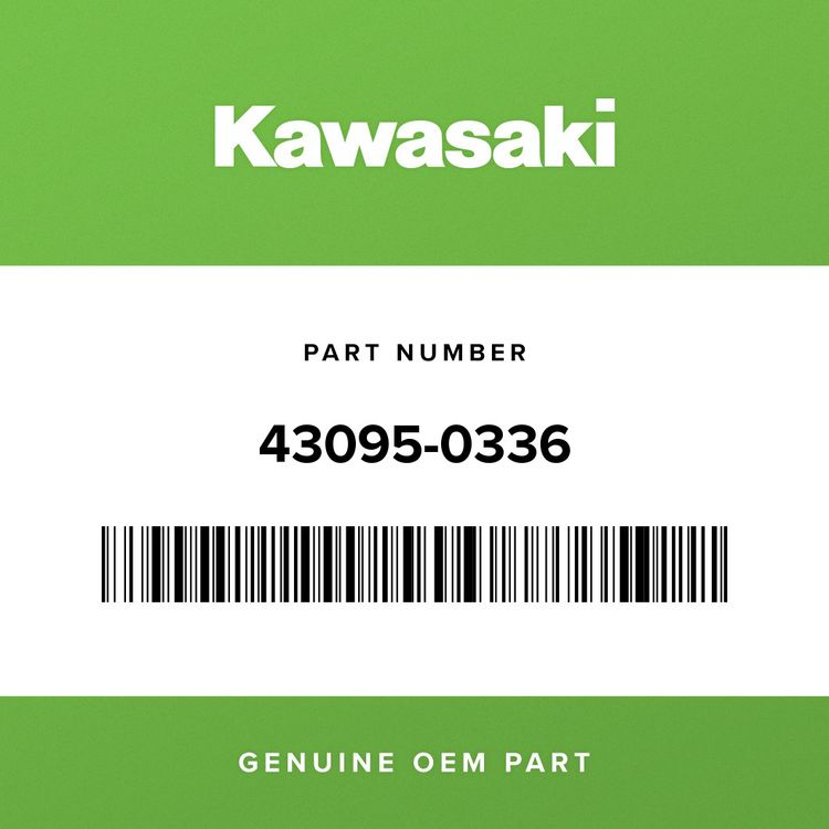 Kawasaki HOSE-BRAKE, RR 43095-0336