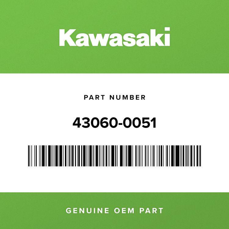Kawasaki PIPE-BRAKE, RR M/CYLINDER-HU 43060-0051