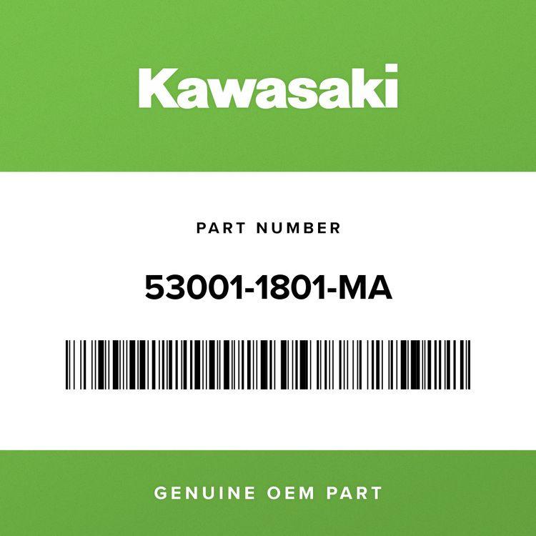 Kawasaki SEAT-ASSY, DUAL, W/BAND, BLACK 53001-1801-MA