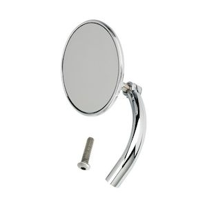 Biltwell Utility Perch Mount Mirror For Harley Single Mirror / Chrome Round [Previously Installed]