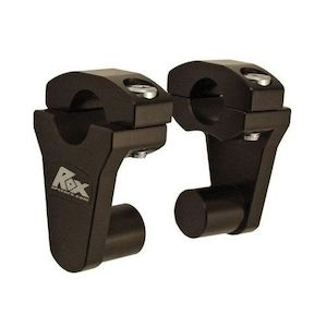 "Rox 2"" Pivot Risers for 7/8"" Handlebars Black [Previously Installed]"