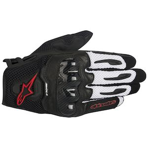 Alpinestars SMX-1 Air Gloves Black/Red / LG [Demo - Good]