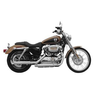 "Rush 3"" Slip-On Mufflers For Harley Sportster 2009-2013 1.75"" Baffle / Black / Baloney Cut [Blemished - Very Good]"