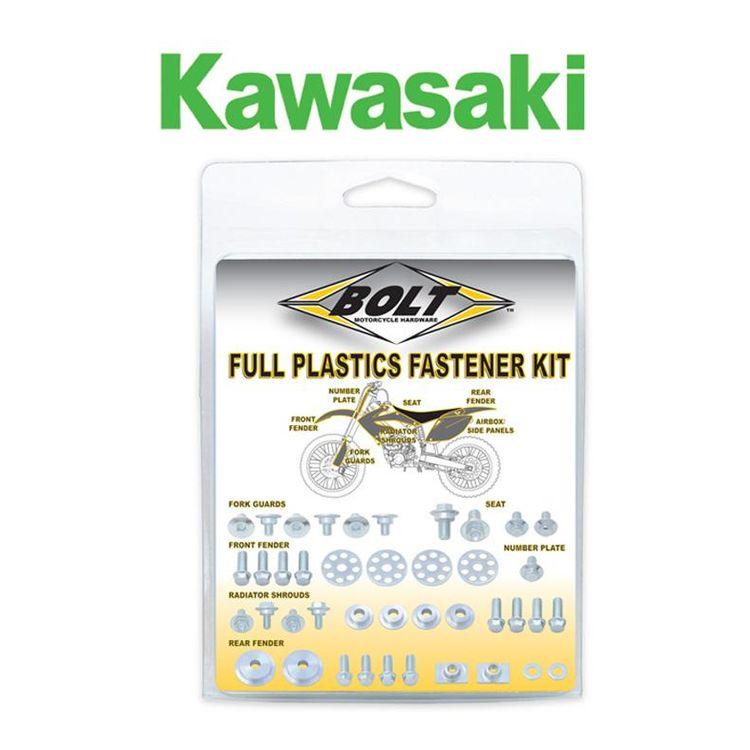 Bolt Hardware Full Plastics Fastener Kit Kawasaki KX85 / KX100 2001-2013