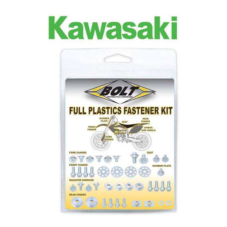 Bolt Hardware Full Plastics Fastener Kit Kawasaki KX85 / KX100 2014-2018