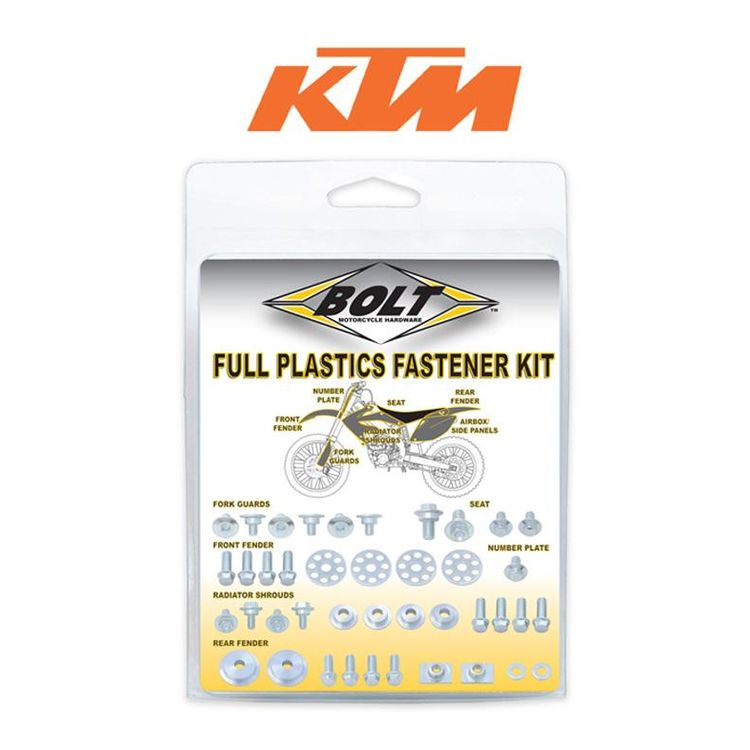 Bolt Hardware Full Plastics Fastener Kit KTM EXC 2008-2011