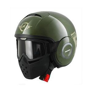 Shark Drak Trinity Helmet Green/Silver/Green / MD [Demo - Good]