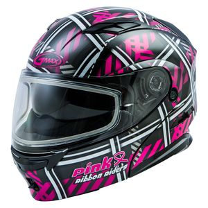 GMax MD01S Ribbon Riders Snow Helmet - Dual Lens