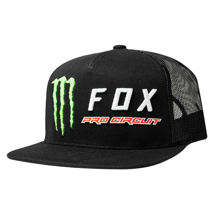 5e748e5799be80 Fox Racing Monster Energy Pro Circuit Snapback Hat - RevZilla