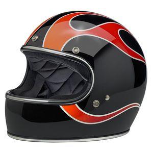 Biltwell Gringo Dice Flames Helmet