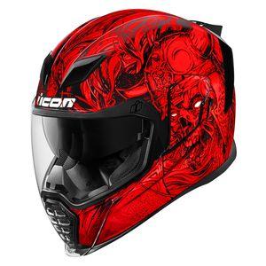 Icon Airflite Krom Helmet Red / XL [Demo - Good]