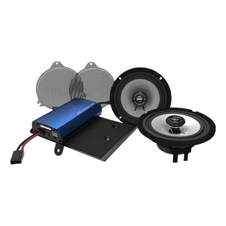 Hogtunes Front Speakers And 225 Watt Amp Kit For Harley Touring 2014-2019