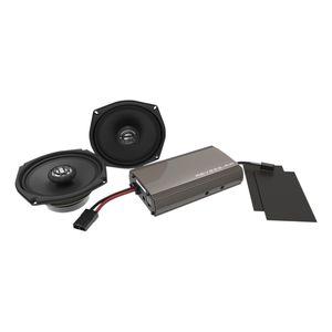 Hogtunes Front Speakers And 225 Watt Amp Kit For Harley Touring 1998-2013