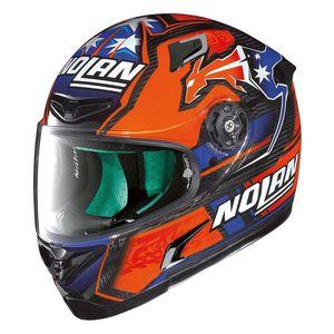 X-Lite X-802RR Ultra Carbon Nolan Stoner Replica Helmet Black/Blue/Orange / MD [Demo - Good]