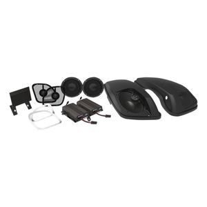 Wild Boar By Hogtunes Front Speakers, Lids & 600 Watt Amp Kit For Harley Road Glide 2015-2020