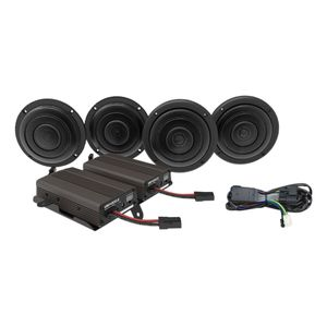 Wild Boar By Hogtunes Front & Rear Speakers & 600 Watt Amp Kit For Harley Touring 2014-2020