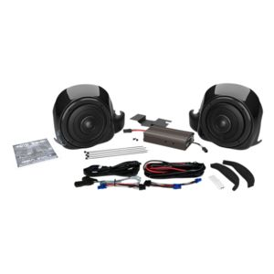wild boar by hogtunes liquid cooled lower speakers & 300 watt amp kit for  harley ultra