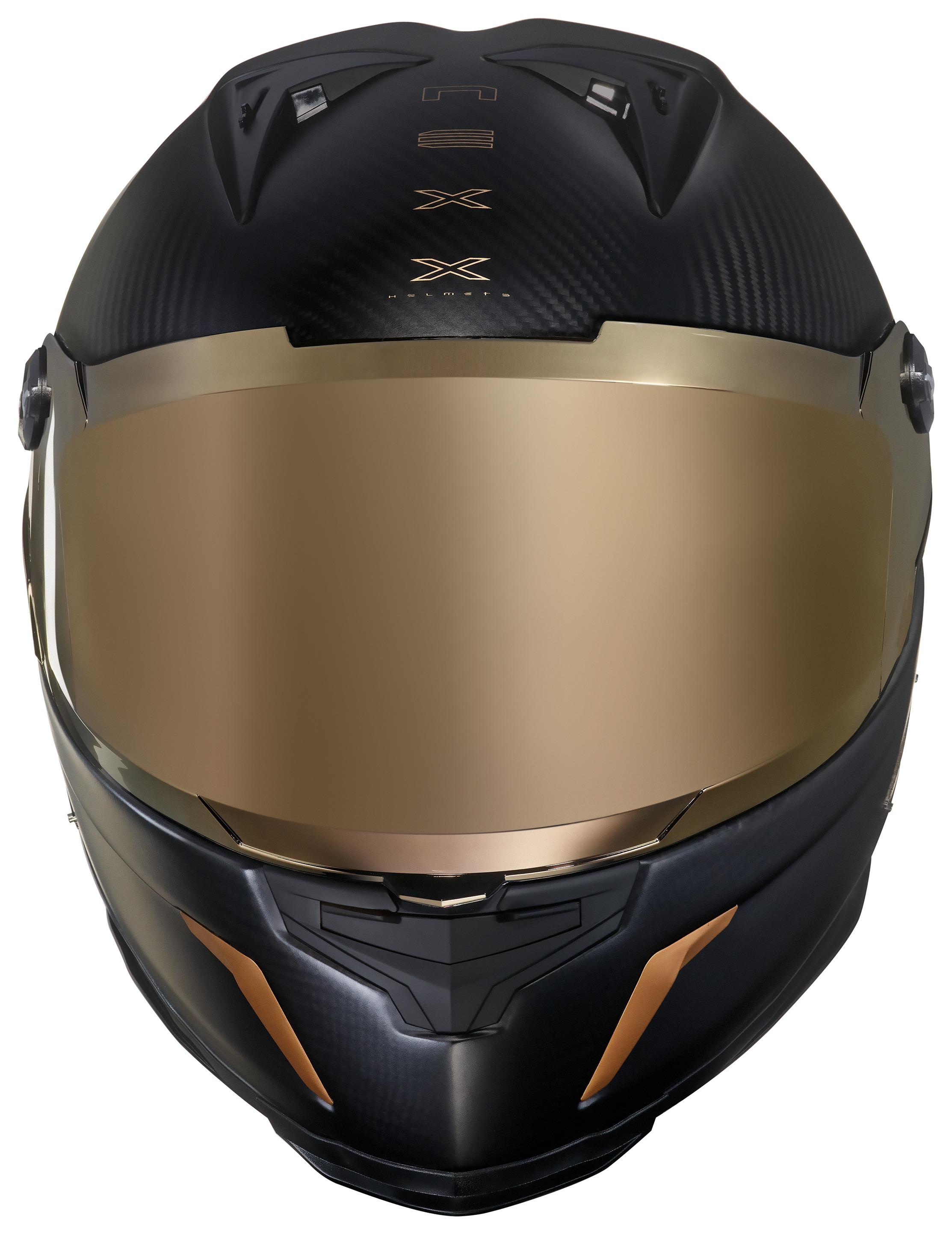 NEXX X.R2 GOLDEN EDITION MATT CARBON GOLD FULL FACE HELMET L