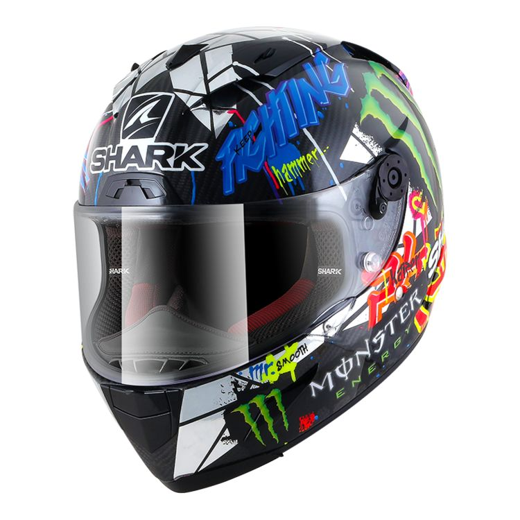 f3349038187e4 Shark Race-R Pro Carbon Lorenzo Catalan GP 2018 Replica Helmet ...
