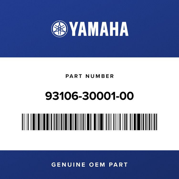 Yamaha OIL SEAL 93106-30001-00