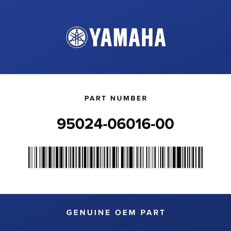 Yamaha BOLT, FLANGE (SMALL HEAD) 95024-06016-00