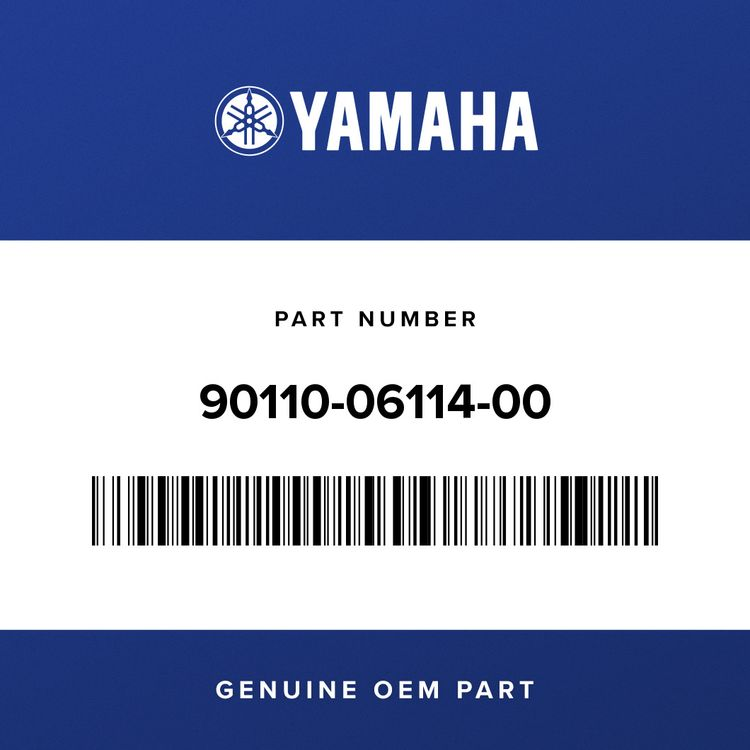 Yamaha BOLT, HEXAGON SOCKET HEAD 90110-06114-00
