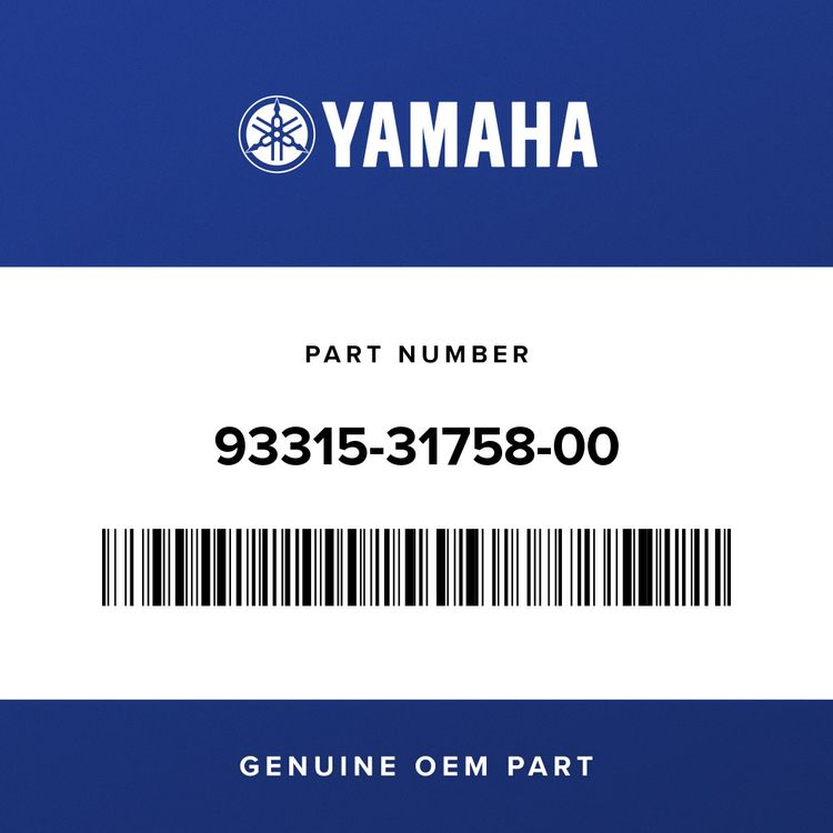 Yamaha BEARING 93315-31758-00