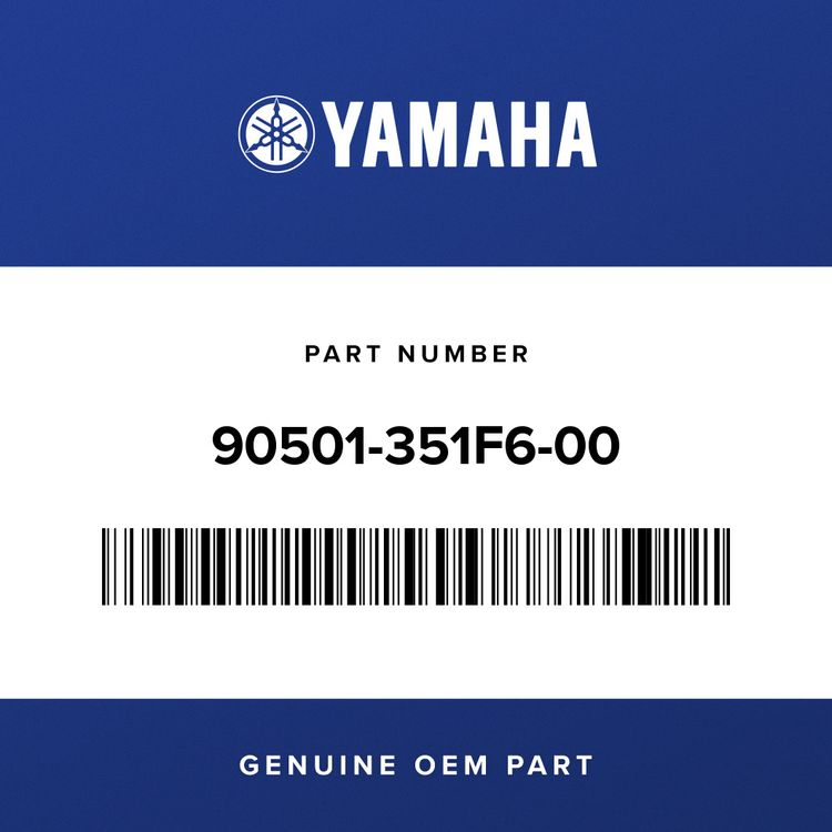 Yamaha SPRING, COMPRESSION 90501-351F6-00