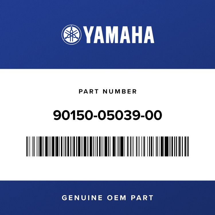 Yamaha SCREW, ROUND HEAD 90150-05039-00
