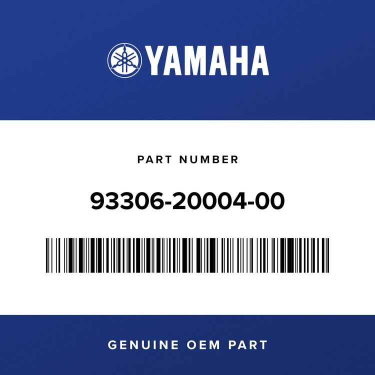 Yamaha BEARING 93306-20004-00