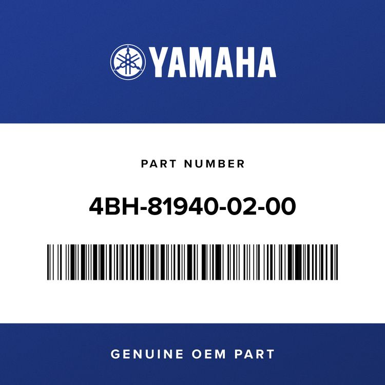 Yamaha STARTER RELAY ASSY (RC19-005) 4BH-81940-02-00