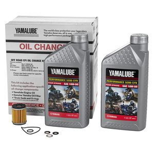 Yamalube EFI Off-Road Semi-Synthetic Oil Change Kit