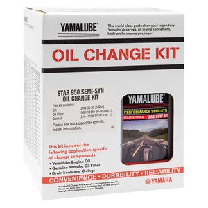 Yamalube Star 950 Semi-Synthetic Oil Change Kit