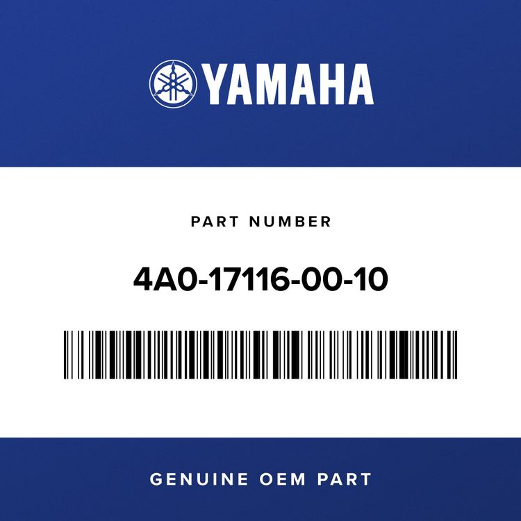 Yamaha WASHER, GEAR HOLD 1 4A0-17116-00-10