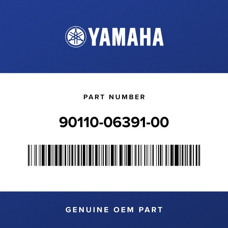 Yamaha BOLT, HEXAGON SOCKET HEAD 90110-06391-00